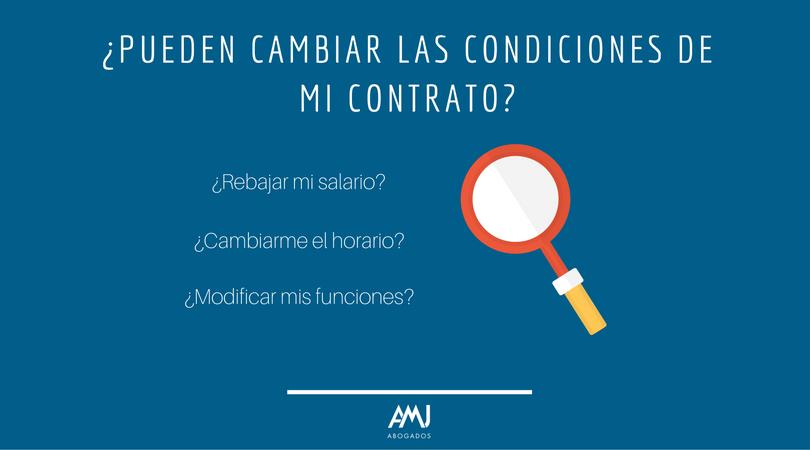 ¿Pueden cambiar las condiciones de mi contrato?